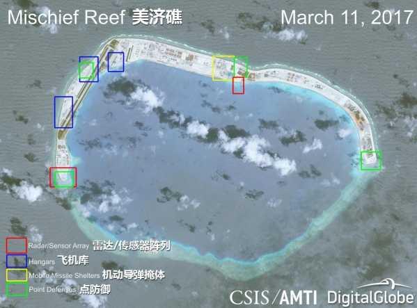 南海岛礁扩建 外媒发布南沙岛礁建设最新实拍