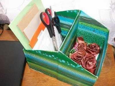 简易化妆盒制作 鞋盒变废为宝制作大空间收纳盒教程